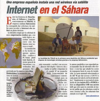 Satconxion en Sahara
